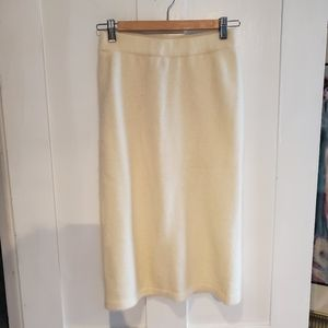 Vintage Cream Wool Pencil Skirt